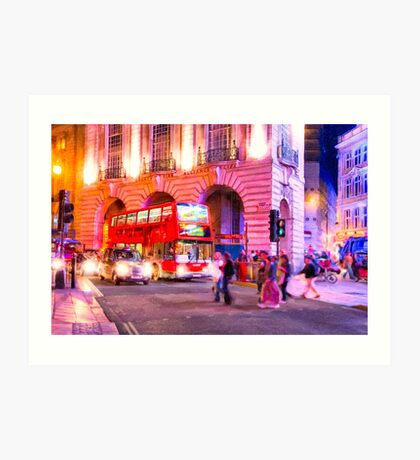 Nights in Piccadilly Circus - London Art Print