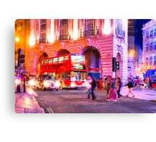 Nights in Piccadilly Circus - London Canvas Print