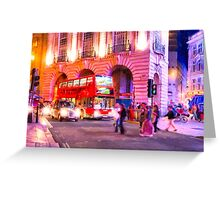 Nights in Piccadilly Circus - London Greeting Card