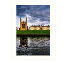 Kings College - Cambridge - The Backs Art Print