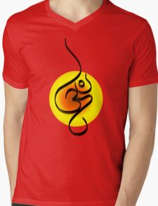 Om  Mens V-Neck T-Shirt