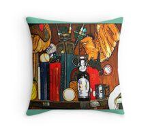 Eclectic Art Design Throw Pillow