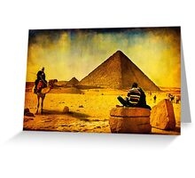 1001 Nights - Tales from Egypt - The Pyramids Greeting Card