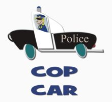 Cop Car - Watch Out T-shirt by Dennis Melling