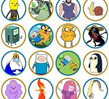 Adventure Time Character Circles by J4MESG