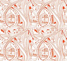 Seamless hand drawing pattern of city by TatianaWind