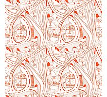Seamless hand drawing pattern of city Photographic Print