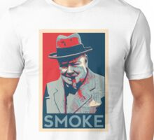 Smoke - Churchill with cigar obama style poster graphic Unisex T-Shirt