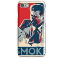Smoke - Kennedy with cigar obama style poster graphic iPhone Case/Skin