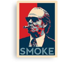 Smoke - Nicholson with cigar obama style poster graphic Canvas Print