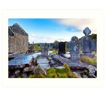 Hallowed Ground - Seven Churches on Inishmore Art Print
