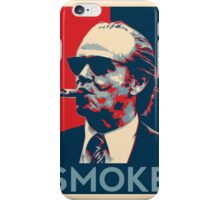 Smoke - Nicholson with cigar obama style poster graphic iPhone Case/Skin