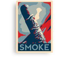 Smoke - cigar obama style poster graphic Canvas Print