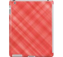 Red Diagonal Lines Abstract Pattern iPad Case/Skin