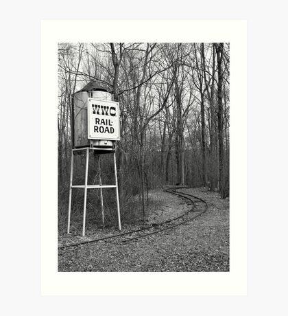 Tower & Tracks Art Print