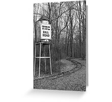 Tower & Tracks Greeting Card