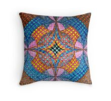 Down and in, Up and out Throw Pillow