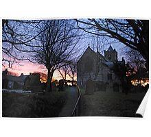 Easington Church in the Sunset Poster