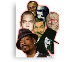 famous funny/hiphop/obama/horror Canvas Print