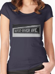 161st Street - River Ave Women's Fitted Scoop T-Shirt