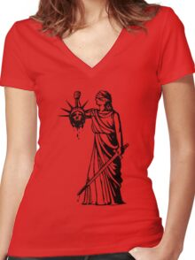 Got Liberty? Women's Fitted V-Neck T-Shirt