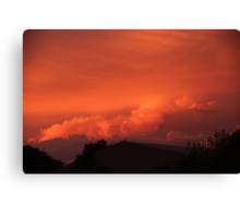 A lonely sunset Canvas Print