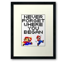Mario never forget Framed Print