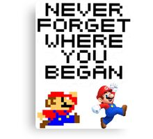 Mario never forget Canvas Print