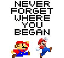 Mario never forget Photographic Print