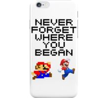 Mario never forget iPhone Case/Skin