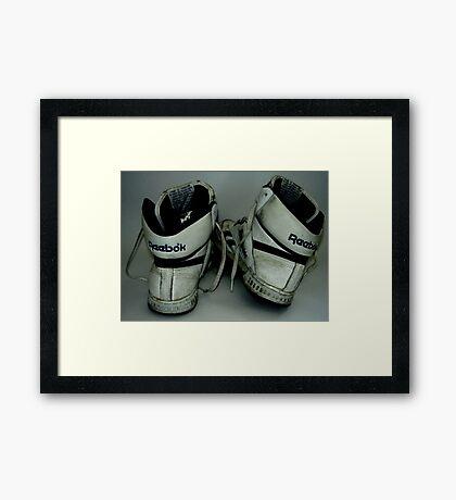 Reebok Sneakers Framed Print