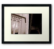 Yankee Stadium & Subway Tracks Framed Print