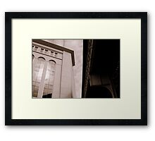 Yankee Stadium & Subway Tracks Framed Print