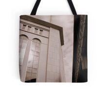 Yankee Stadium & Subway Tracks Tote Bag