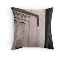 Yankee Stadium & Subway Tracks Throw Pillow