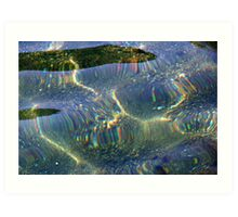When the sun plays with water Art Print