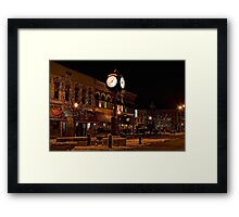 Small Town America Town Square Framed Print