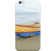 Bow of a Blue and Yellow Fishing Boat iPhone Case/Skin