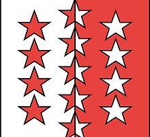 Flag of Valais Canton  by abbeyz71