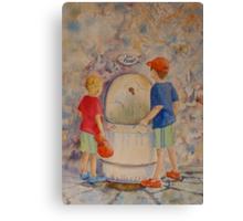 EAU POTABLE Canvas Print