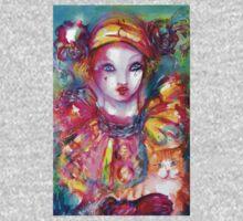 Pierrot with Cat  / Venetian Masquerade Masks Baby Tee