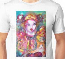 Pierrot with Cat  / Venetian Masquerade Masks Unisex T-Shirt