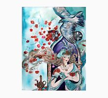 ORIENTAL FAIRY TALE / PRINCESS ,RED ROSES AND FLYING  HAWK Unisex T-Shirt