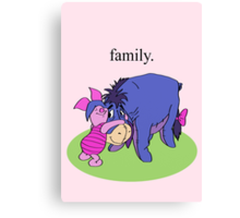 Eeyore and Piglet Canvas Print