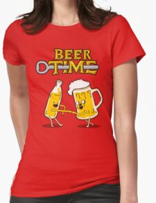 Beer Time Womens Fitted T-Shirt