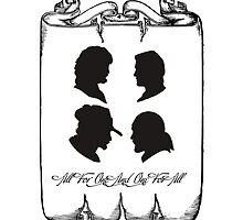 All For One Silhouette - The Musketeers Motto by burketeer