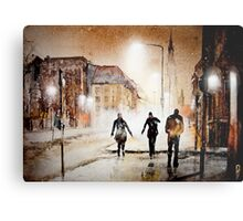 Britain's cold night in warm colors. Metal Print