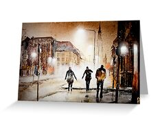 Britain's cold night in warm colors. Greeting Card