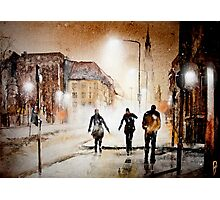 Britain's cold night in warm colors. Photographic Print