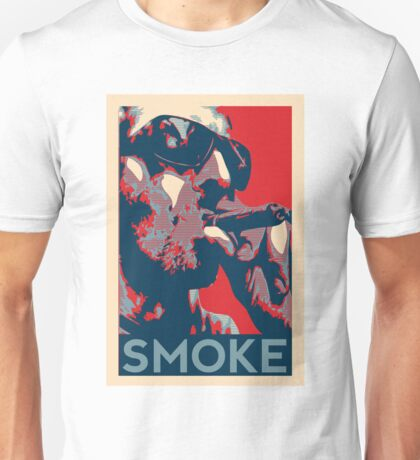 Smoke - Guy with cigar obama style poster graphic Unisex T-Shirt